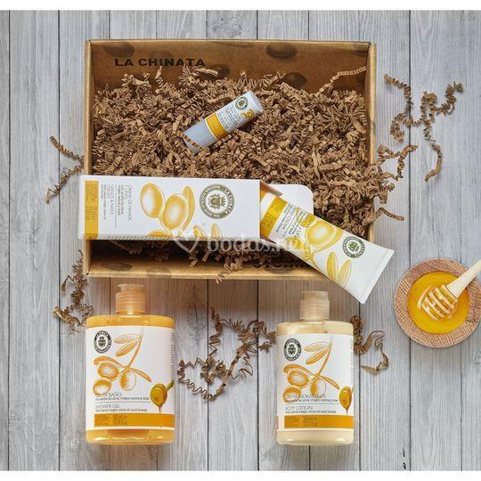Cesta de cosmética miel