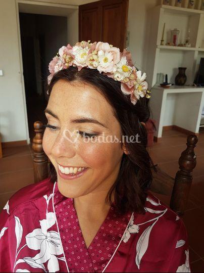 Maquillaje de novia romántico