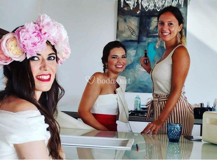 Maquillajes de novia e invitada