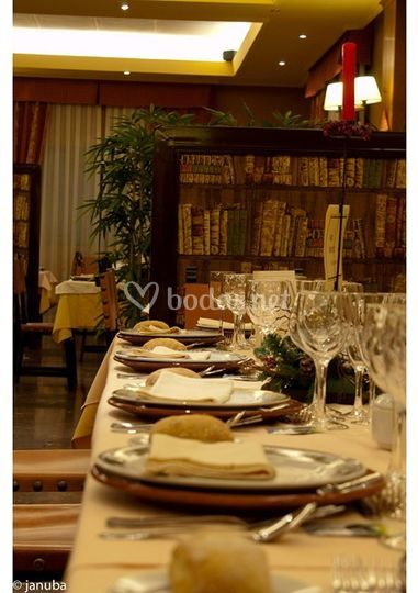 Montaje en restaurante
