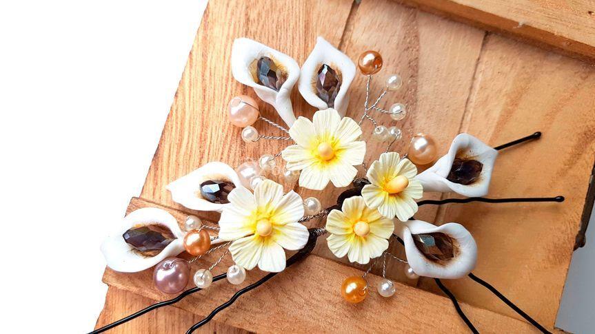 Horquillas de flor de lirio