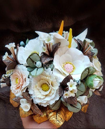 Ramo de novia de porcelana