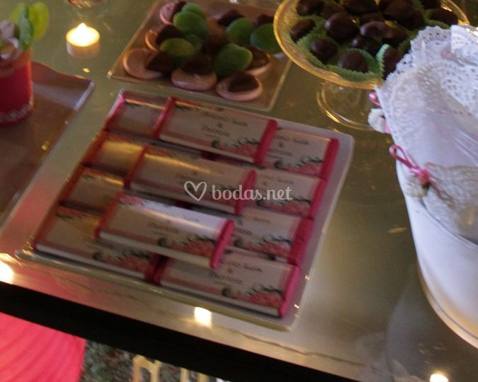 Chocolatinas para cada invitad