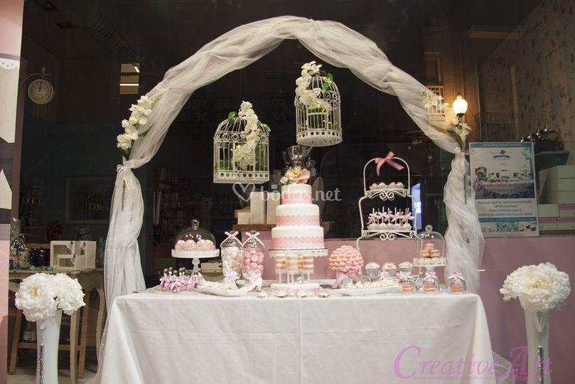 Mesa dulce bodas de imagina te fotos for Fotos de mesas de bodas