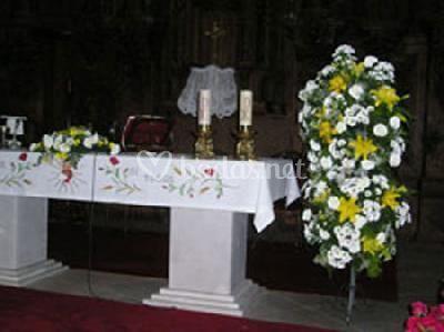Adornos en el altar