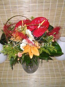 Bouquets en jarrón