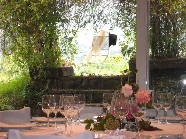Cenar en el jardin