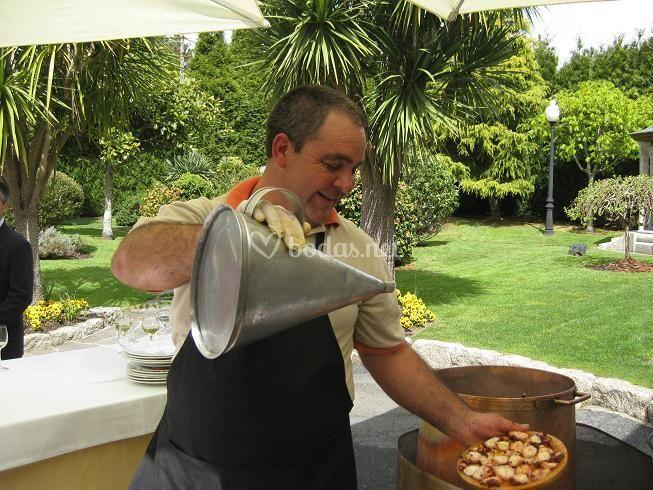 Preparación del pulpo