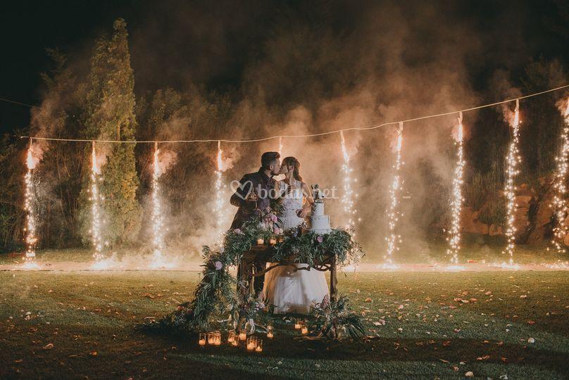 Fotografia de boda - pastel