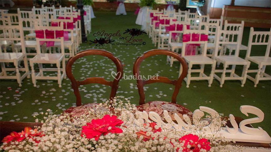 Decoración de bodas civiles