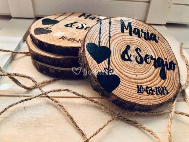 Posavasos madera personalizado