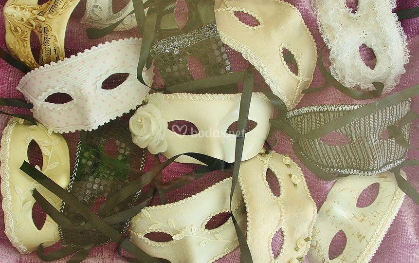 Máscaras venecianas para bodas