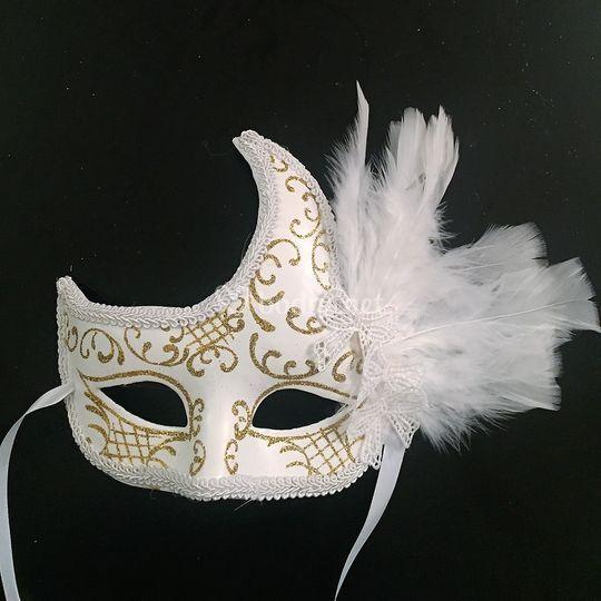 Mascara de papel mache  boda