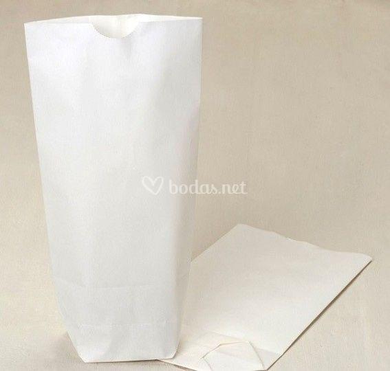 Lote bolsas papel blanco