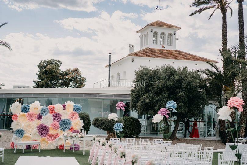Decoración de la boda civil