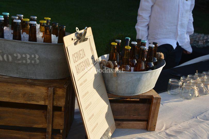 Barra cervezas premium