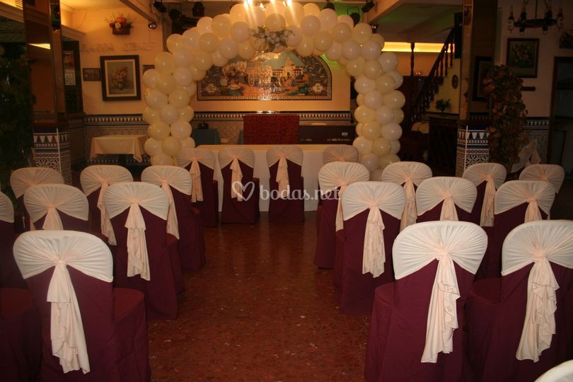Decoración para boda civil de Globo Magia | Fotos