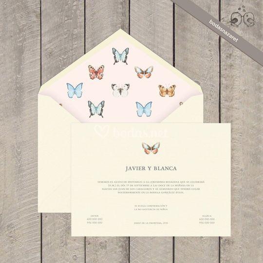 133 Invitación boda mariposa