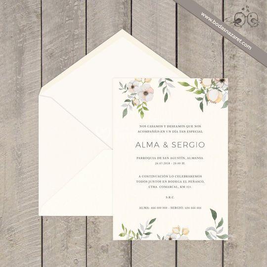 268 Invitación flores blancas