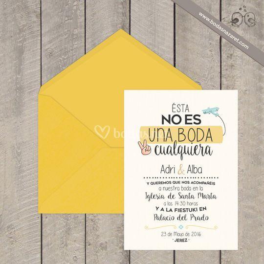 204  Invitación boda amarilla