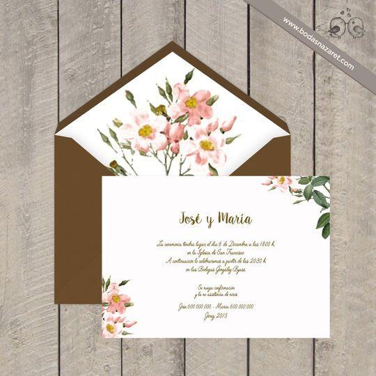 169 Invitación boda Floral