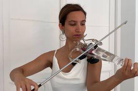 Violín Eléctrico Transparente y Clásico