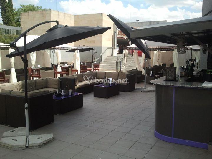 Acogedora terraza