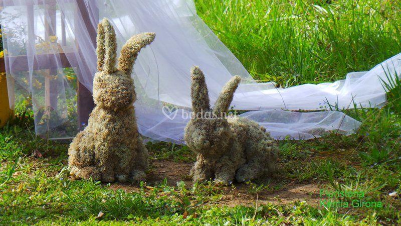 Escultura de musgo