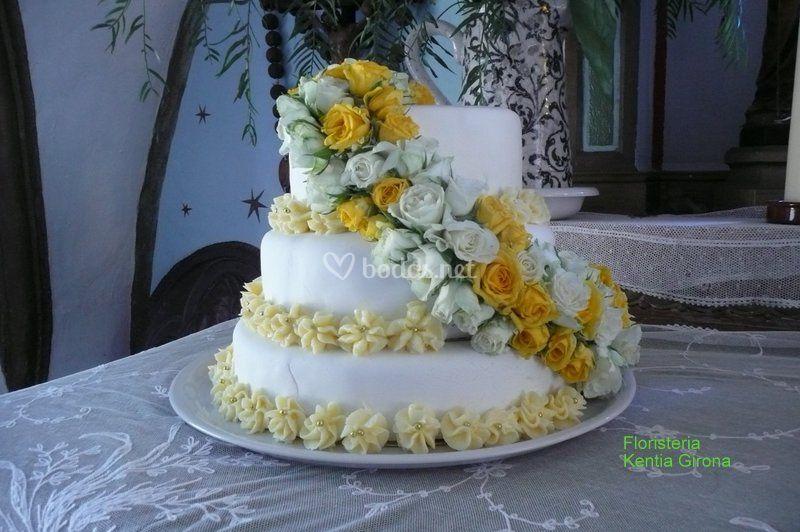 Decoracion tarta nupcial