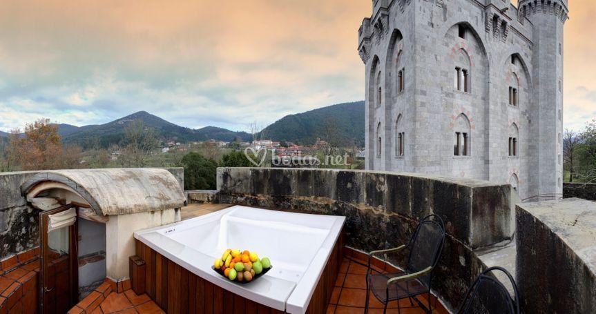 Jacuzzi En Terraza.Terraza Con Jacuzzi De Hotel Restaurante Castillo De Arteaga Foto 29