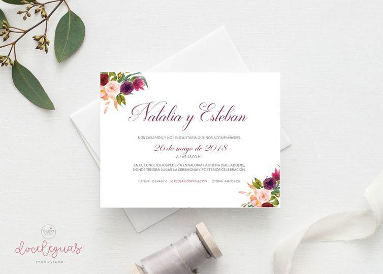 Invitación Blossom