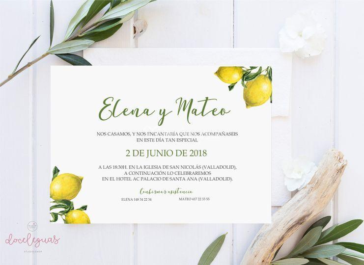 Invitación limones