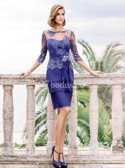 Elegancia en color azul