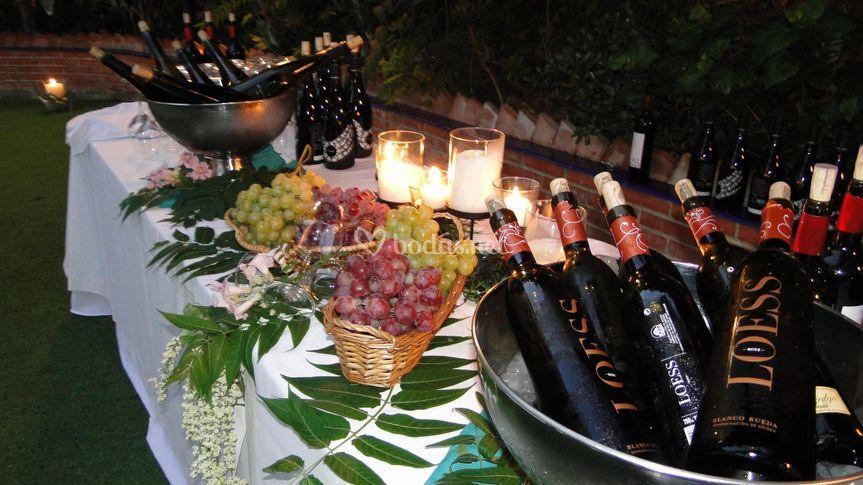 Buffet de vino