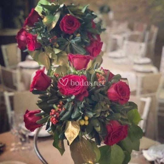 Centro de rosas