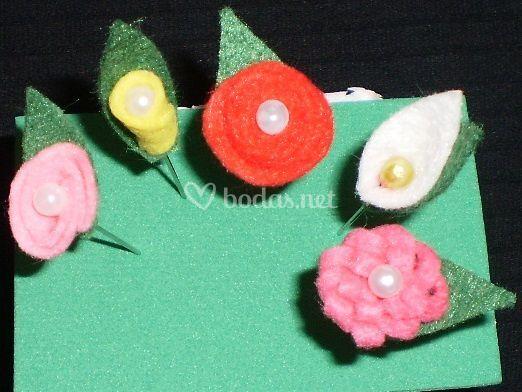 Alfileres flores