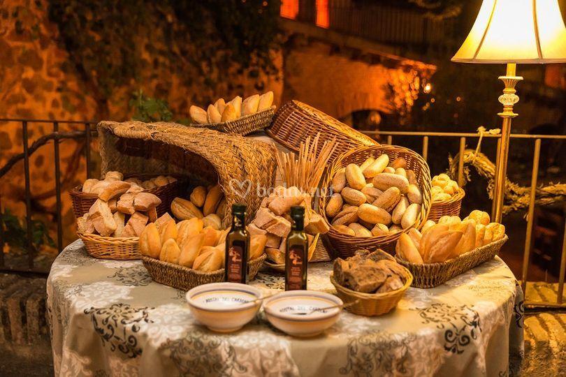 Mesa de panes y aceites HdC