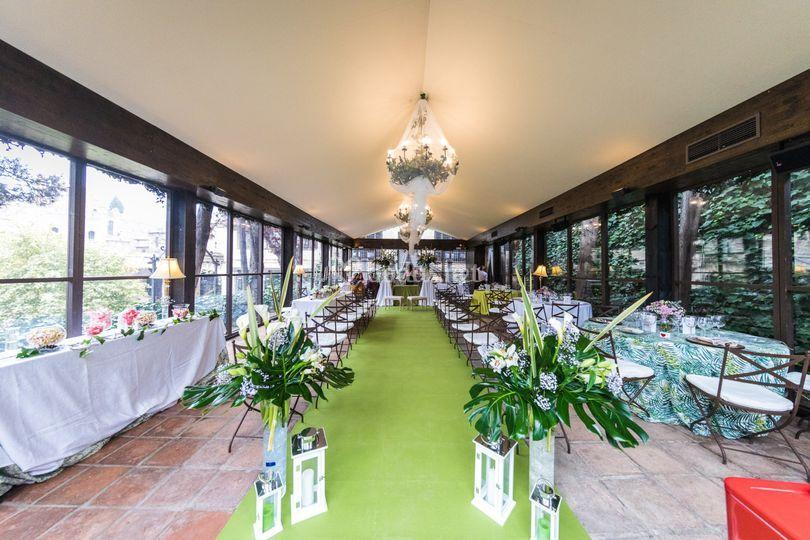 Ceremonia en Cenadores HdC