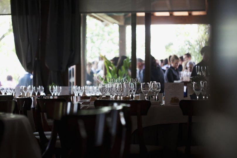 Vista de invitados durante el lunch