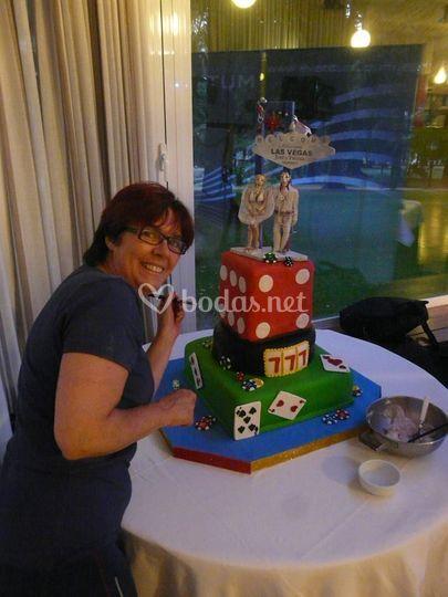 TArta boda Castillo Soutomaior