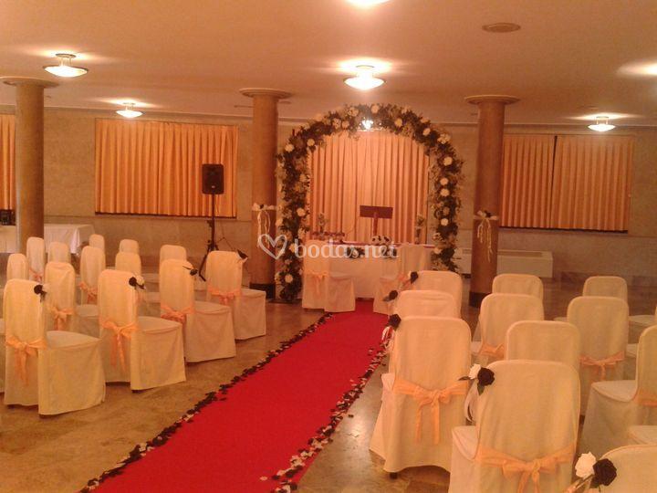 Salón para la boda civil
