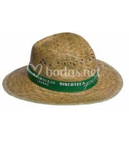 Sombreros con cinta impresa