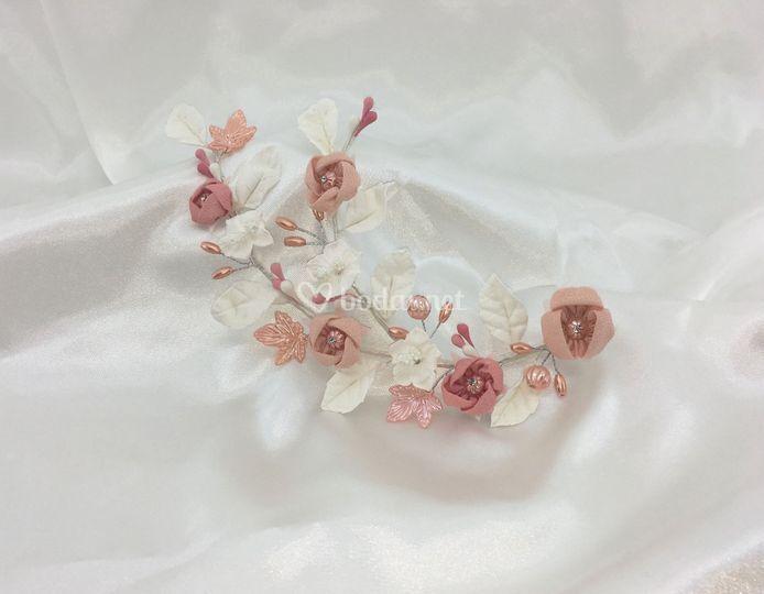 Doble rama en blanco y rosa