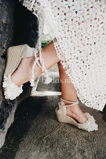 Zapatos de esparto únicos