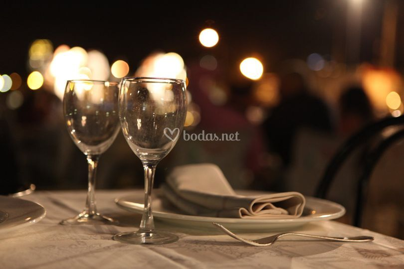 Detalles de la cena