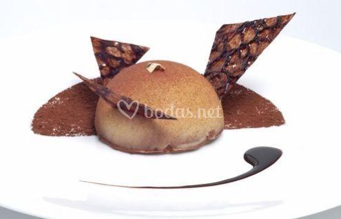Semiesfera de chocolate y jengibre