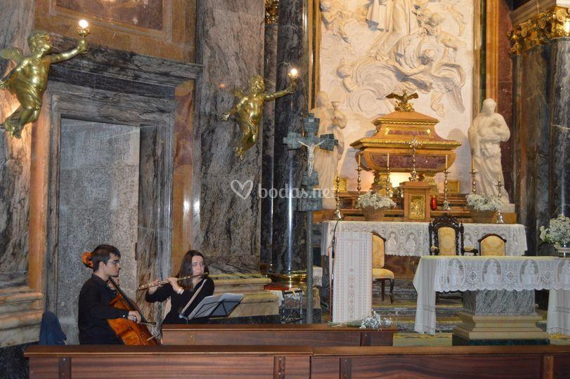 Flauta y violonchelo