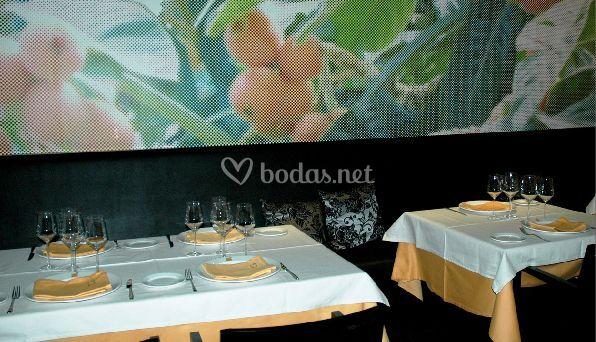 Mesas y decoración