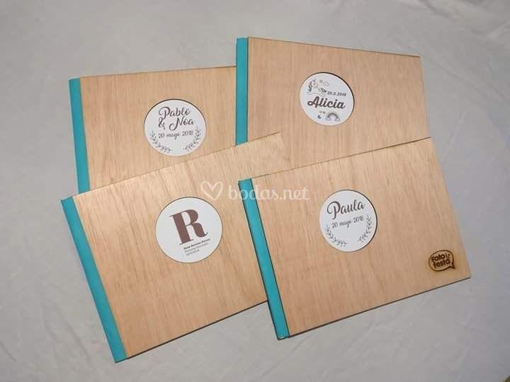 Álbum de madera personalizado