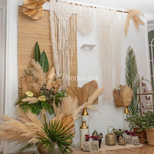 Evento boho tropical